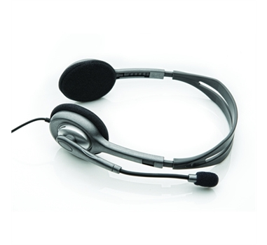 Logitech Stereo Headset H110 - Casco con auriculares ( semiabierto )
