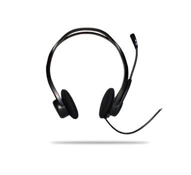 Logitech PC Headset 960 USB - Casco con auriculares (semiabierto)