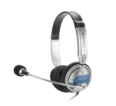 NGS MSX 6 Pro - Casco con auriculares - Diadema - Micrófono - Control de volumen en el cable, gris