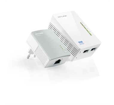Powerline Wifi - TPLINK TL-WPA4220KIT - Puente - HomePlug AV600 - WIFI - 802.11b/g/n - Kit de 2