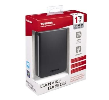 "Toshiba Canvio Basics - Disco duro - 1 TB - externo - 2.5"" - SuperSpeed USB 3.0 - negro"