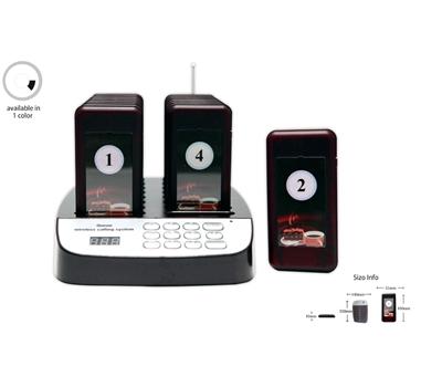 Avisador de clientes - 16 dispositivos para cliente con aviso acústico, luminoso y zumbido - 999 canales