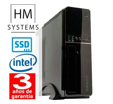 HM Abrego C4+ - Sobremesa SFF - 8ª Gen - Intel Core i3 8100 - 8 GB DDR4 - 240 GB SSD - Grabadora - Lector de tarjetas - USB 3.0 - 3 años garantía - 30 días DOA