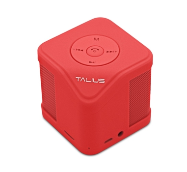 Talius - Altavoz Cube - 3W - FM/SD/Bluetooth - Rojo