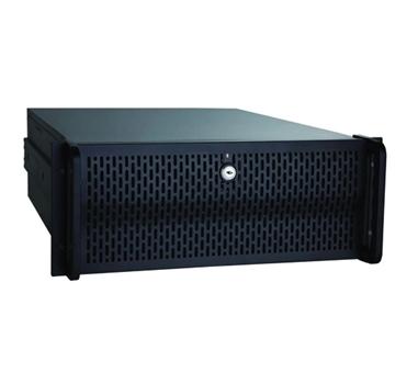 """Caja Rack 19"""" 4U Unykach UK-4129 - Color Negro - 427x178x505 mm -  3 Bahías de 5 1/4"""" y 8 de 3 1/2"""" - Fuente ATX no incluida."""