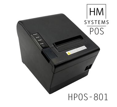 Impresora de tickets térmica HM-Systems HPOS-801 - 250mm/s - USB + Ethernet - Corte automático parcial o completo - 80mm - Avisador acústico