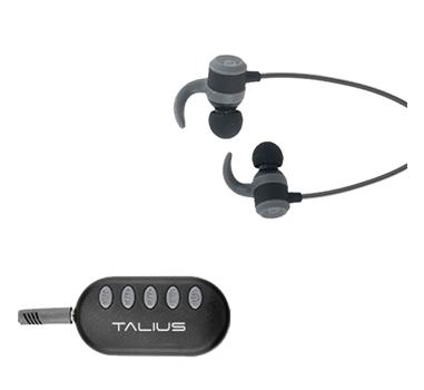 Talius - Auricular Deportivo EA-1006BT - Bluetooth - Adaptador FM/MicroSD - Bluetooth - Manos libres - Hasta 6h de autonomia - Botones de control - Negro