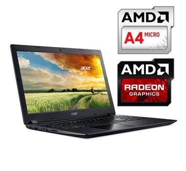 """Portátil Acer Aspire 3 A315-21-4505 - AMD A4 9120 - 8 GB DDR4 - SSD 128 GB - 15,6"""" HD - Radeon R3 - HDMI - GBit - WiFi ac - BT 4.1 - Windows 10 Home 64 Bits"""