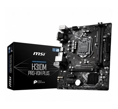 Placa base 1151 (8-gen) microATX MSI H310M PRO-VDH Plus - 2xDDR4 (hasta 32 GB 2666Mhz) - 4xSATA3 - USB 2.0 (4/2) USB 3.1 (2/2) - VGA - HDMI - Audio 7.1 - Red Gigabit