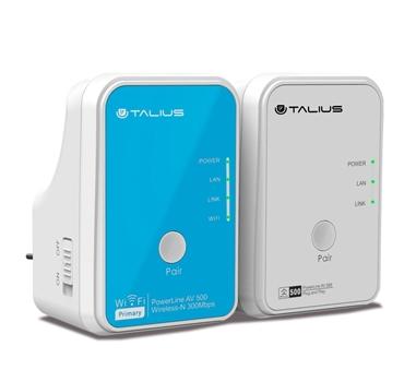 Talius redes PLC Kit  AV500Mbps+AV300Mbps (1 wifi)  PLC-500WKIT-V2