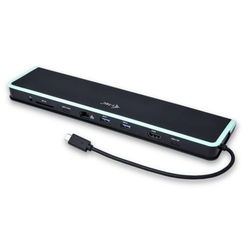 I-Tec - Docking Station C31FLATDOCKPD  - Entrada USB-C 3.1 - Salida 2xUSB 3.0 - 2xUSB-C - 1xHDMI - 1xRJ45 Gigabit - Lector SD