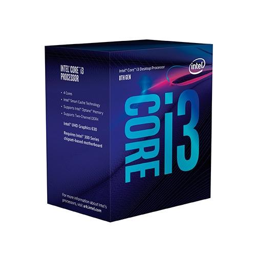 Procesador 1151 Intel Core i3 8100 - 3.6 GHz - 4 núcleos - 4 hilos - 6 MB caché - UHD Graphics 630 - Caja