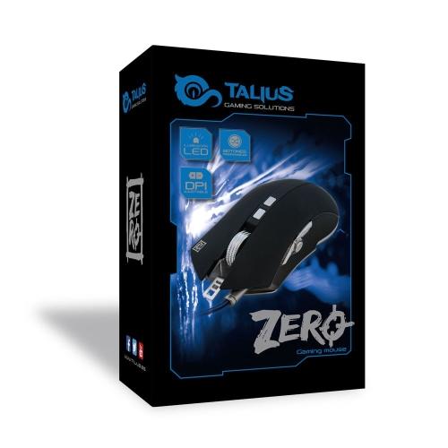 Talius - Raton Zero - Gaming - 4000 dpi ajustables - 8 botones - sensor optico - Sensor Avago 3050 - Juego de pesas