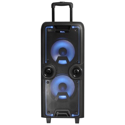 NGS - Altavoz Portatil Wild Rock - RMS 200W - Bateria 4500mAh - BT/FM/USB/AUX/2xMIC (no incluidos) - Pantalla LED - CN18