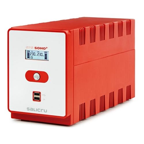 Salicru - SAI SPS SOHO+ IEC 850VA/480W In-Line - 2xUSB - LCD - NUEVA REVISIÓN