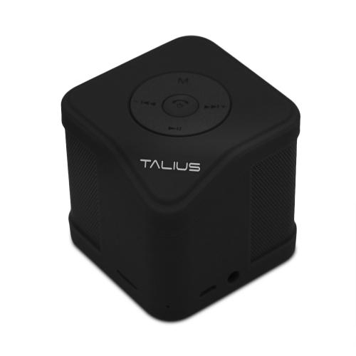Talius - Altavoz Cube - 3W - FM/SD/Bluetooth - Negro