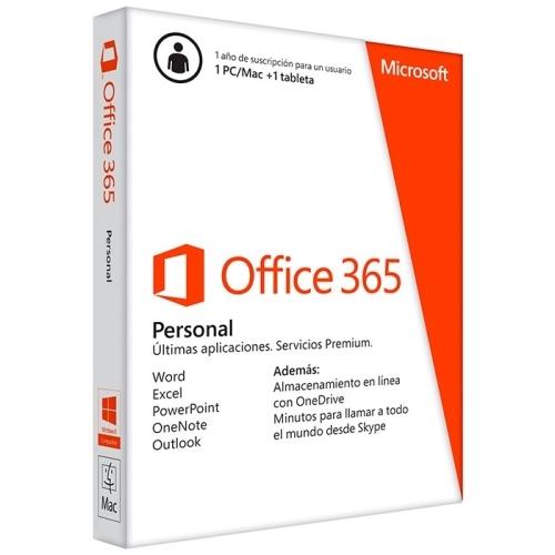 Microsoft Office 365 Personal - caja de embalaje (1 año) - 1 persona - sin materiales, P4 - Win, Mac, Android, iOS - Español - Eurozona