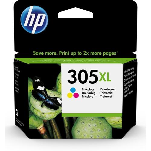 HP 305XL cartucho de tinta 1 pieza(s) Original Alto rendimiento (XL) Cian, Magenta, Amarillo