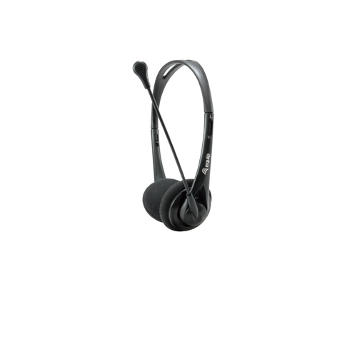 Equip - Headset Equip Life Conexion Jack 3.5mm - Microfono flexible - Control de volumen - Incluye adaptador 1 a 2 Jacks 3.5mm - Negro