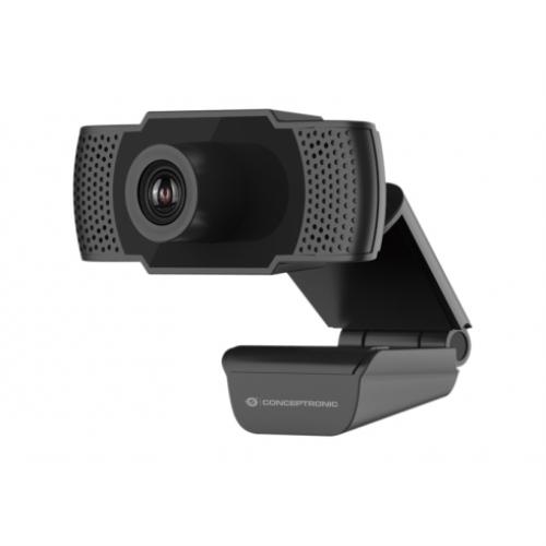 Conceptronic - Webcam FHD AMDIS - 1080P - USB 3.6MM - 30 FPS - Angulo Vision 90º - Microfono integrado