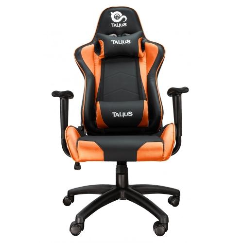 Talius - Silla Gecko Gaming - Negra/naranja - brazos fijos - butterfly - base nylon - ruedas nylon