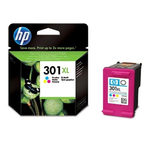 HP 301XL cartucho de tinta 1 pieza(s) Original Alto rendimiento (XL) Cian, Magenta, Amarillo