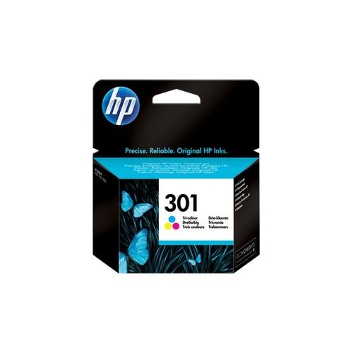 HP 301 cartucho de tinta 1 pieza(s) Original Rendimiento estándar Cian, Magenta, Amarillo