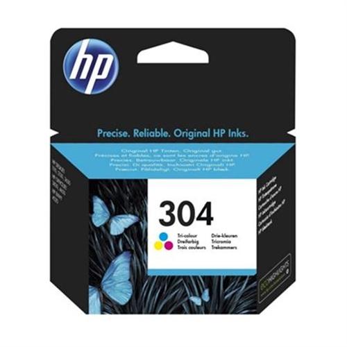 HP 304 cartucho de tinta Original Rendimiento estándar Cian, Magenta, Amarillo