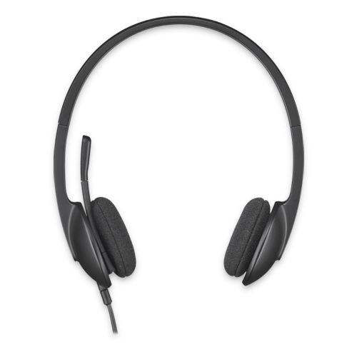 Logitech USB Headset H340 - Casco con auriculares ( semiabierto )