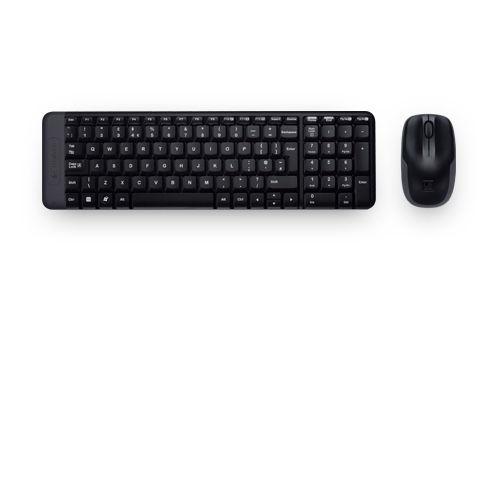 Logitech Wireless Combo MK220 - Teclado - inalámbrico - 2.4 GHz - ratón - receptor inalámbrico USB - Tamaño reducido - Español