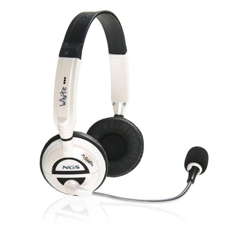 NGS MSX 6 PRO White - Casco con auriculares ( semiabierto ) - Diadema - Micrófono - Volumen