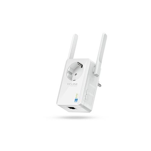 TPLINK - Amplificador de señal TL-WA860RE Wireless N 300Mbps - toma de corriente adicional - antenas externas alta ganacia