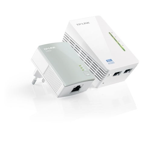 Powerline Wifi - TPLINK TL-WPA4220KIT - Puente - HomePlug AV500 - WIFI - 802.11b/g/n - Kit de 2