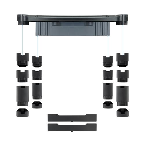TooQ - Soporte elevador regulable multiusos con cajón