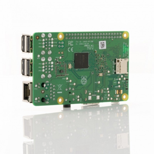 Raspberry Pi 3 modelo B+ - Broadcom BCM2837B0 Quad core 1.4 GHz - 1 GB - Wifi - Bluetooth - Gigabit Ethernet (max. 300Mbps) - 4 x USB 2.0 - GPIO header 40-pin - 1 x HDMI - MicroUSB (carga) - MicroSD