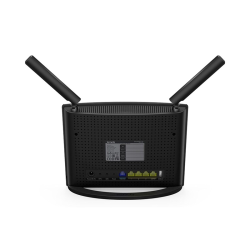 Tenda - Router AC9 - WIFI AC1200 - Dual Band 300Mbps N + 867Mbps AC - Chip Broadcom - Gigabit LAN x4 + WAN Gigabit x1 - USB