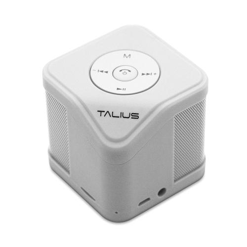 Talius - Altavoz Cube - 3W - FM/SD/Bluetooth - Blanco