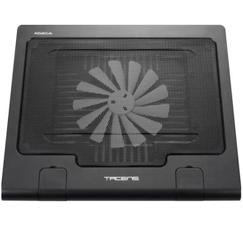Tacens - Base de Refrigeracion para portatiles Tacens Abacus reclinable - Ventilador silencioso - 12 dB - 180 mm - Inclinación de 0 a 40º - Aura Pro hasta 15.4