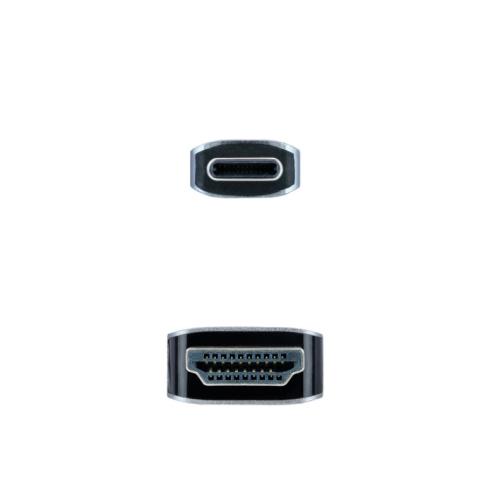 Nanocable - Cable conversor USB-C A HDMI USB-C/M–HDMI/M - Negro - 3.0m