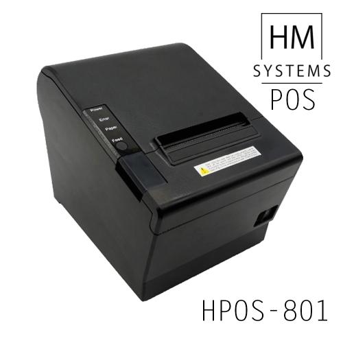 Impresora de tickets térmica HM-System HPOS-801 - 250mm/s - USB + Ethernet - Corte automático parcial o completo - 80mm - Avisador acústico