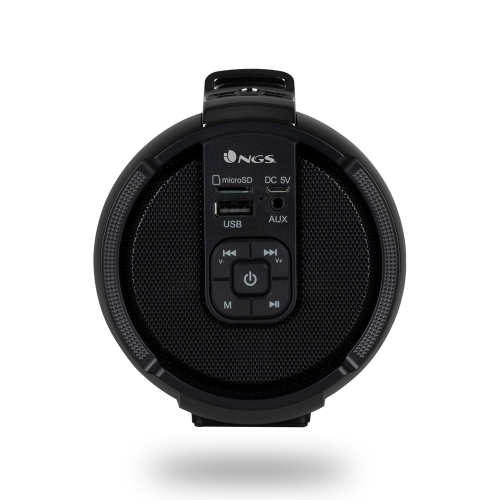 NGS - Altavoz Roller Tempo - Bluetooth/TWS - 20W - USB - SD - Aux IN - Bateria 1500mAh - Negro
