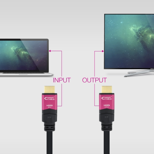Nanocable - Cable HDMI V2.0 4K@60Hz 18 Gbps con repetidor A/M-A/M - Negro - 15m