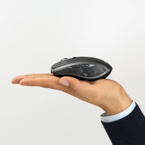 Logitech - Ratón MX 2S- Inalámbrico - Bluetooth - LED - 2.4 GHz - Li-Po (500 mAh) - Gris