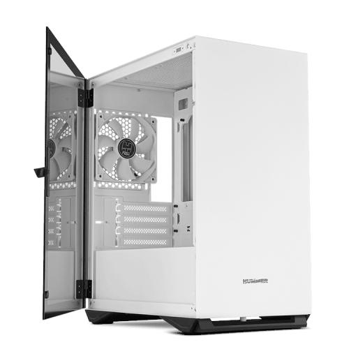 Nox Hummer Zero - Caja MicroATX - Diseño minimalista - Lateral de cristal templado - 1 x USB 3.0 - 1 x USB 2.0 - 1 x 120 mm incluído - Hasta 5 vent. - Blanca - 208x376x405 mm