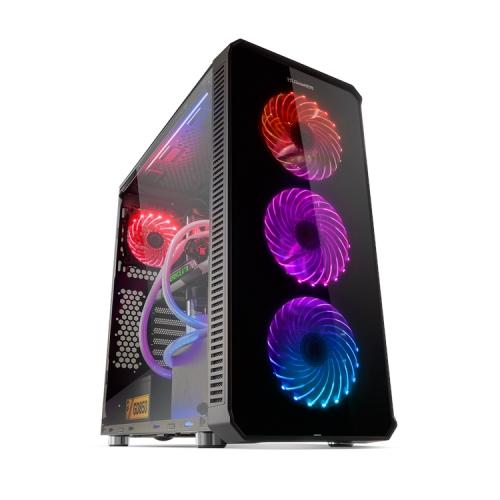 Nox Hummer TGX Rainbow RGB - 2 x USB 3.0 - 2 x USB 2.0 - Negra