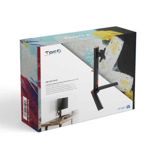 TooQ - Soporte de mesa monitor Gaming DB1401TN-B - 17
