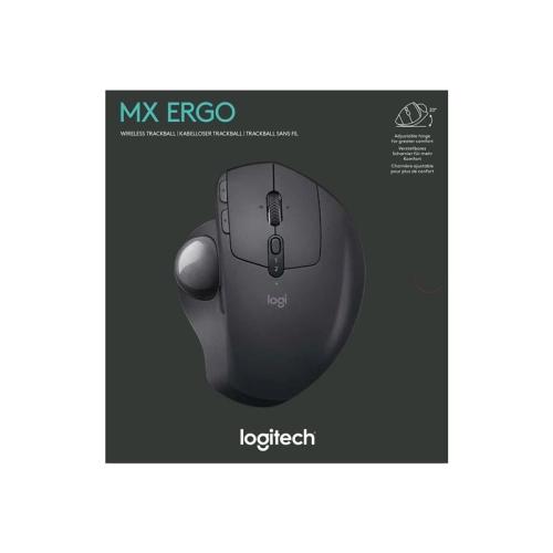 Logitech - Ratón óptico MX Ergo - Bola de seguimiento - inalámbrico - Bluetooth - 2.4 GHz - receptor inalámbrico USB