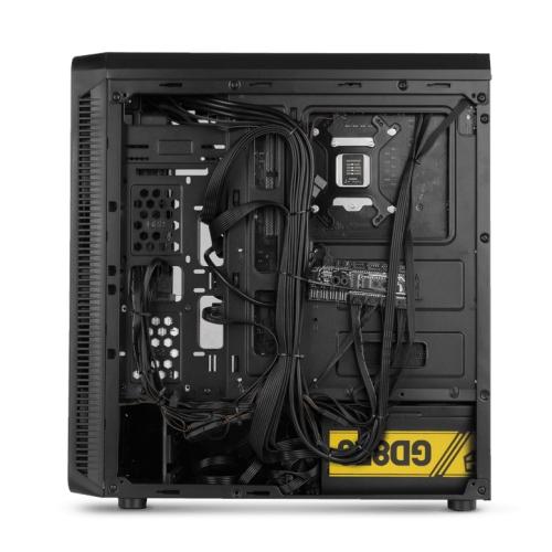 Nox Hummer TMG Rainbow RGB - Caja ATX - Lateral, frontal y superior cristal templado - 2 x USB 2.0 - 1 x USB 3.0 - 4 x 120mm ARGB incluido - hasta 6 vent. - Negra - 198x440x420