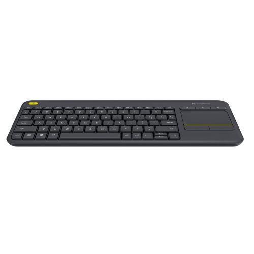 Logitech Wireless Touch Keyboard K400+ - Teclado - inalámbrico - 2,4 GHz - Touchpad - Español