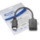 Nanocable - Cable USB 2.0 3A USB-C/M-A/F 15cm Negro OTG (On The Go)